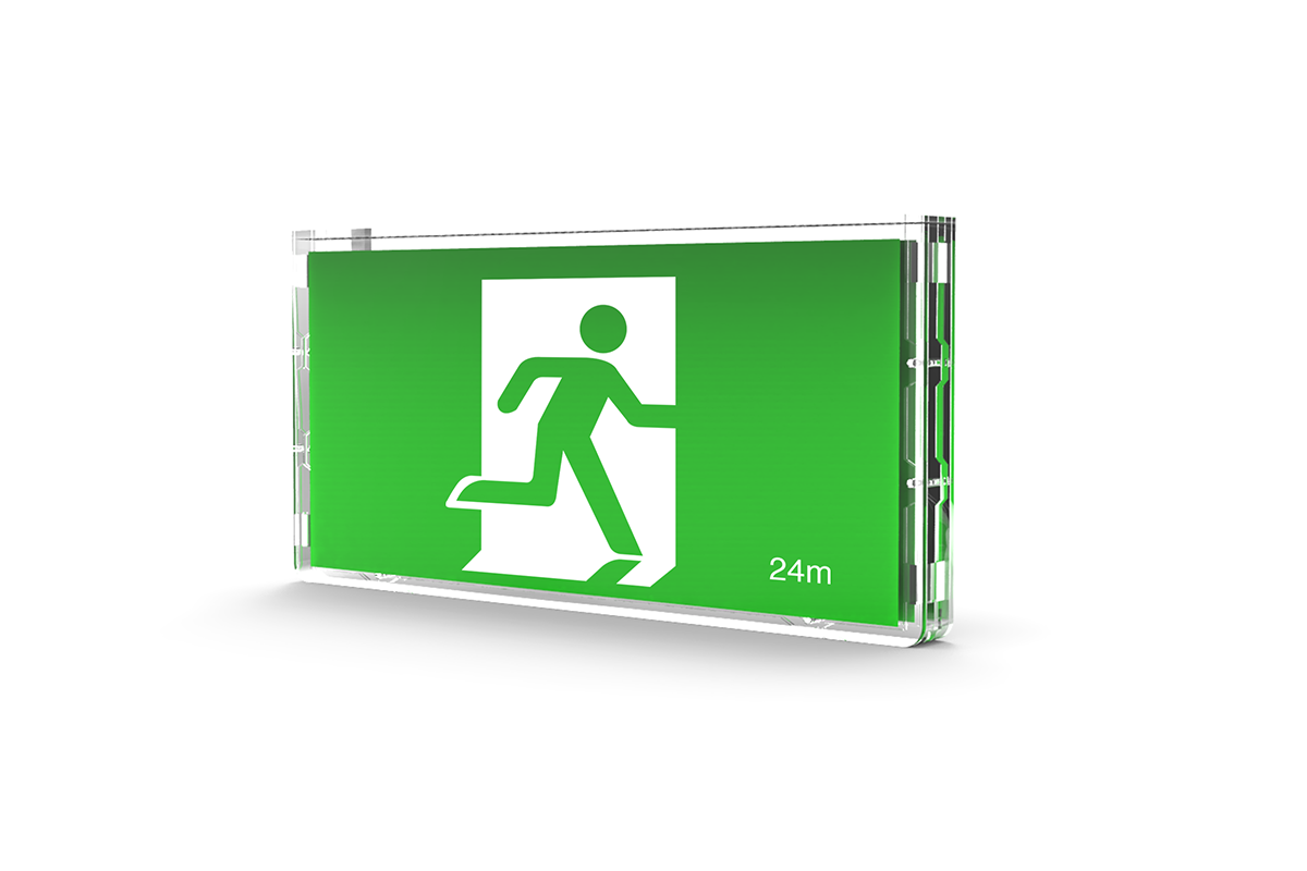 exit signs, exit lights, LED exit lights, illuminated LED exit signs Australia